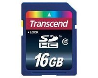 SD Card Transcend Secure Digital Card SDHC Class 10 - 16GB