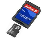 Micro SD 8Gb Sandisk and Adapter
