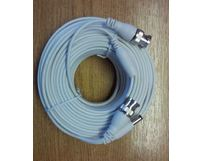 Cable BNC 15m HD-SDI/TVI/AHD/960H 15m BNC-BNC and DC White